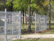 "1"" 2"" Flexible Plastic Coated Chain Link Fencing For Hillside Protection supplier"