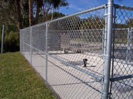 PVC Coated galvanized Chain Link Fence , dark green color RAL6005 supplier