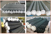 China Diamond Mesh Fencing Galvanized Wire Powder Coated Chain Link Fencing company
