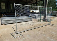 "1⅞""(48mm) tubing 6ft x 10ft cross brace temporary construction steel fence chain mesh 2¼""x2¼""(57mmx57mm) HDG to be 275g"