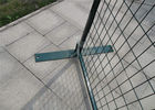 "6'x10' powder coated temp construction fence panels mesh 2""x4"" 50mm*100mm*8.5ga/3.8mm  outer frame 1""/25mm x 1.5mm thick supplier"