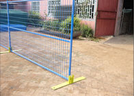 "6FT X 9.5FT Powder COATED canada standard temporary fence panels mesh spacing 2""x8""x8ga diameter tubing 30mm RHS x 1.6mm supplier"