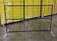 "6ft x 10ft canada standard temporary fence 2"" x 4""X10.5GA aperture pipe 1""x1'x1.7GA thick brace 3/4""x19GA POWDER coated"
