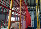 6'x9.6'  Construction Security Temp Fence Panels Tubing 30mm*30mm brace 20mm*20mm Powder Coated Red supplier