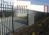 Powder coated tubular steel fence