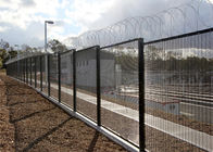 Ultra 358 Vinyl Welded Mesh Security Fencing 4mm 76.2*12.7mm for prisons, airports, laboratories, secure hospitals supplier