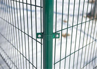 Manufacture PVC Coated Military Anti-Climb 1830mm x 2500mm 4 v fold 100mm section mesh fence