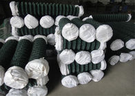 Woven Chain Link Fencing PVC Coated Iron Wire Mesh , 18#-7# Wire Dia supplier