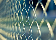 "1.2 oz/sq ft (366 g/ sq meter) 8ft height chain link fabric mesh 2""x2"" x11ga/2.95mm dia  commerical  hurricane fence supplier"