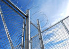 China Dipped Galvanized Chain Link Fence With 35-300G per Square Meter Zinc Coating; PVC Coated Chain Link Fence factory