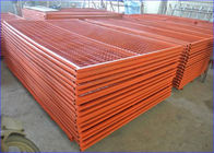 "6FT X 9FT ""Montreal"" TEMPORARY FENCE Tubing 25mm x 1.2mm Mesh 2""x4"" Diameter 8ga wire/4.00mm powder coated Orange supplier"