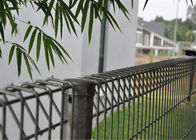 hot dipped galvanized BRC welded mesh panel fencing, roll top fence, decorative public park fence
