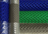 Chain link wire mesh fencing panels