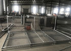 "Temporary Chain Link Fence Panels  6'Height X 14' Width  35mm wall thickness 1.5mm Mesh 2.5"" x 2.5"" diameter 11.5ga"