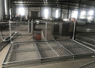"Temporary Chain Link Fence Panels  6'Height X 14' Width  35mm wall thickness 1.5mm Mesh 2.5"" x 2.5"" diameter 11.5ga supplier"