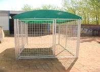 Weld Wire Dog Kennel 1.8mx2.5m x 2.5m OD32mm wall thickness 1.5mm with covered cloth hot dipped galvanized supplier