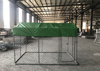 "4 foot x 7.5 foot x 7.5 foot chain link mesh dog kennel ,DIY porducts mesh 2""-3/8 x 2.3mm diameter .temporary chain mesh"