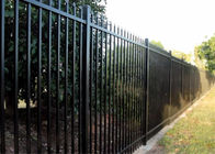 2.1mx2.4m Garrison Fencing Panels rail 50mm x 50mm  1.6mm upright 25mm x 25mm wall thick 1.2 with pedestrian gates