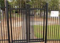 China 2.1mx2.4m Garrison Fencing Panels rail 50mm x 50mm  1.6mm upright 25mm x 25mm wall thick 1.2 with pedestrian gates company