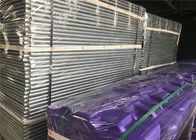 Construction Site Temporary Fencing Panels OD 32mm wall thick1.2mm Mesh 60mmx150mmxr2.5mm Violet & Purple Fence base supplier