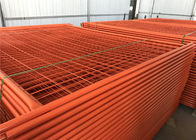 RAL 2009 Powder Coated Temporary Fencing Panels OD 32mm x 1.4mm Mesh 6cmx15cm diameter 3.2mm supplier