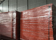 Powder Coated Temporary Construction Fencing Panels OD 32mm*1.4mm 2.1mx2.4m Mesh 60mm*150mm supplier