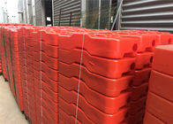 HDPE temporary fencing base 43mm available any color orange blue and violet all molding design UV 10 level supplier