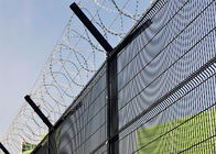 Hot dipped Galvanized 358 wire Fence Panels 2200mm/2300mm x 2515mm width Mesh 12.70mm*76.20mm diameter 3.00mm supplier