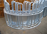 Six Bars Heavy Duty Metal Oval Rai Portable Corral Panels For Cattle supplier