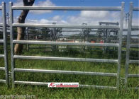 Six Bars Heavy Duty Metal Oval Rail Cow Fence Panels for Au Market supplier