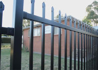 2100mm height x 2450mm width square flat picket HERCULES steel fence supplier