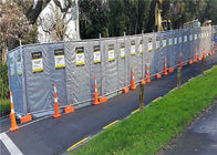 Portable Acoustic BARRIER for constrution fencing panels