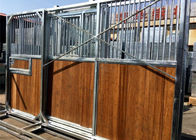 European-style Horse Stall Fronts Hot Dip Galvanized With Swing Feeder supplier