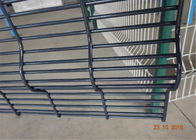 Welded 358 No Climb Security Fence , Galvanized Climb Proof Fence 4mm Mesh Highly Secure