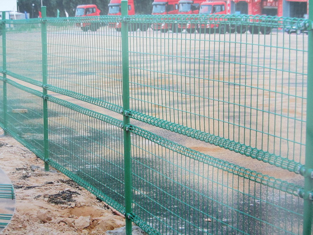 high quality powder coated double loop wire mesh metal garden fence ...