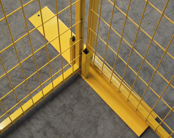"Powder coated canada temporary fence H 8'/2430mm*W10'/3048mm 2""x4""/50mm*100mm*8ga wire strore items powder coated yellow supplier"