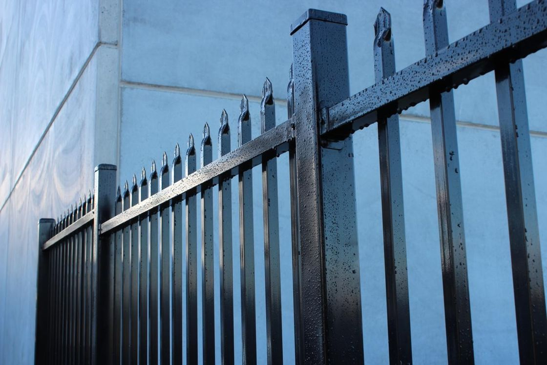 Made in China Australia style black zinc railing tubular steel fence for sale supplier
