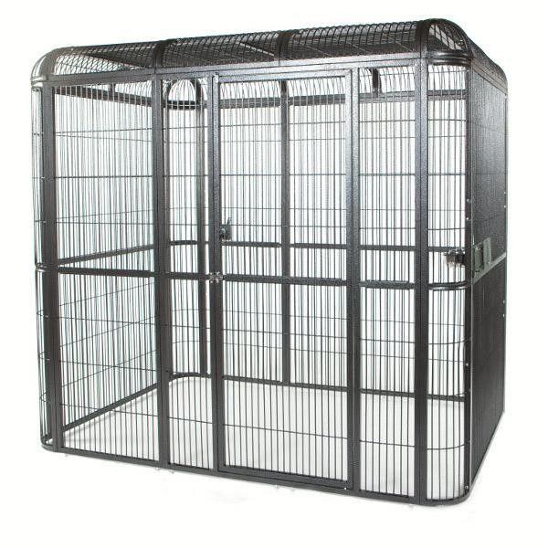 outdoor welded mesh parrot/birds aviary house black powder coated big aviary cage for sale supplier