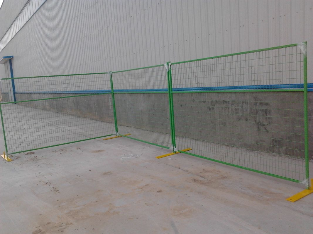 Canada Standard Temporary Metal Fencing with PVC Coating supplier