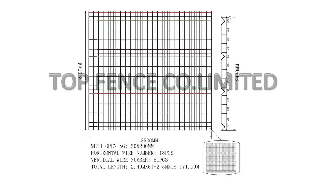 2430mm x 2500mm nylofor 3d wire mesh fence panels. Black Bedroom Furniture Sets. Home Design Ideas