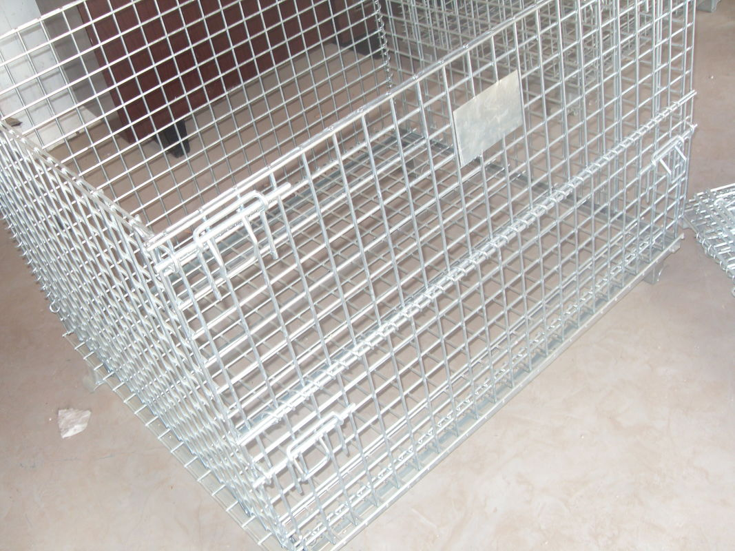 Warehouse storage collapsible wire mesh containerwi supplier