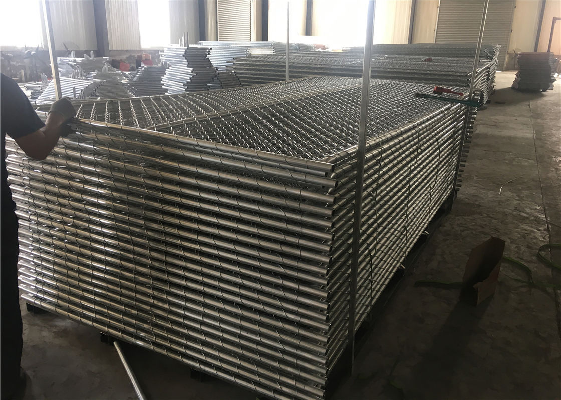 "8ftx12ft 1830mm x 2650mm tubing  1½""(38mm) cross brace temporary chain link fence mesh spacing  2¼""x2¼""(57mmx57mm) supplier"