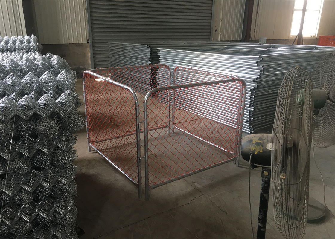 6'x9 5' construction chain link fence 2⅜