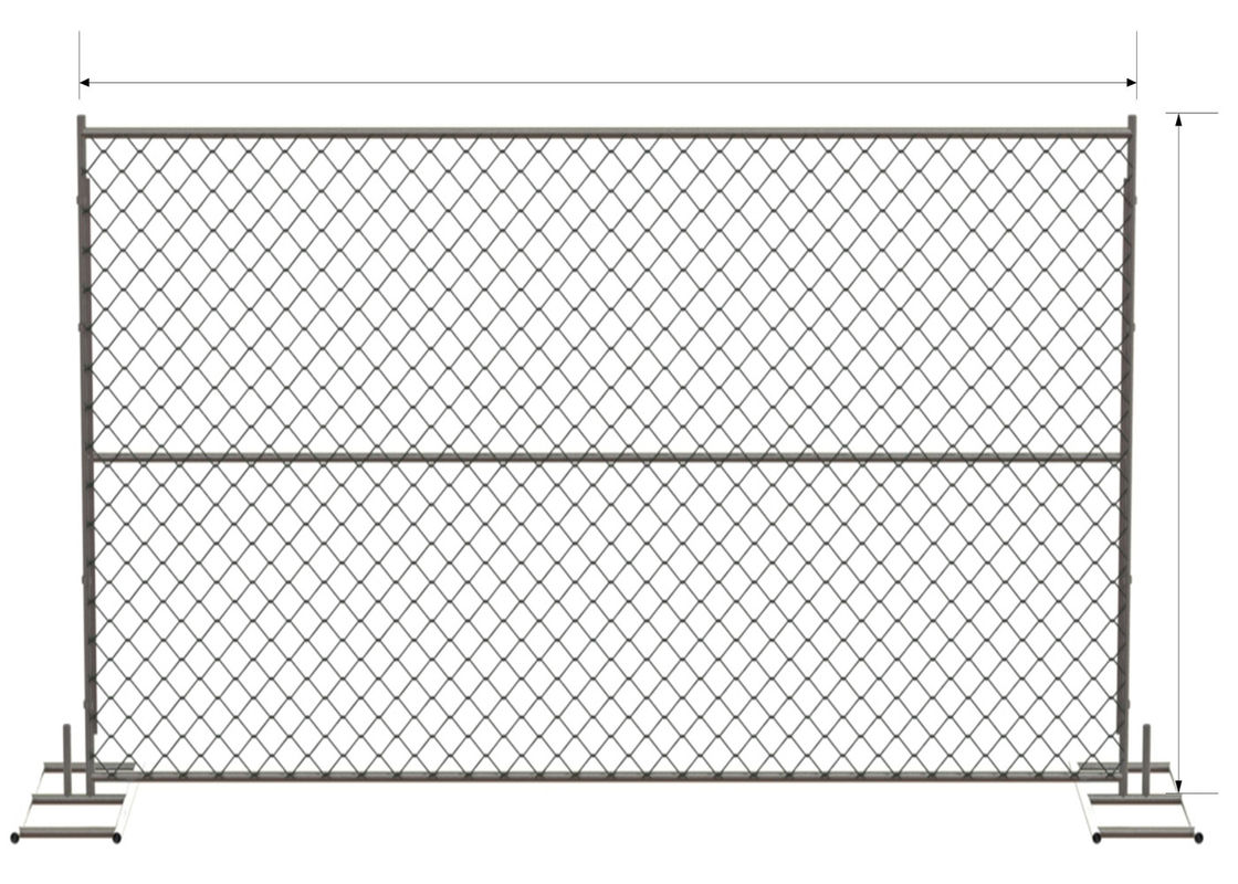 6ft X 12ft 72inch X 120inch Chain Link Temporary Fencing