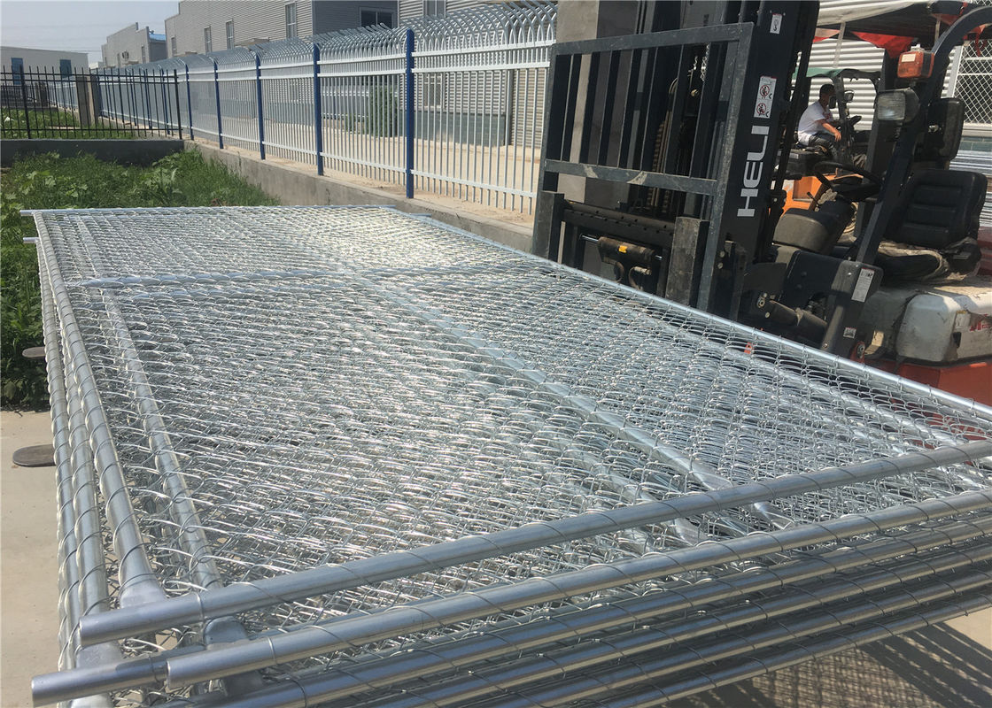 "4'x10' chain link fence construction fencing tubing  1⅜""(35mm) x16.5ga/1.50mm wall thick chain mesh 3""x3"" x 11.5ga dia supplier"