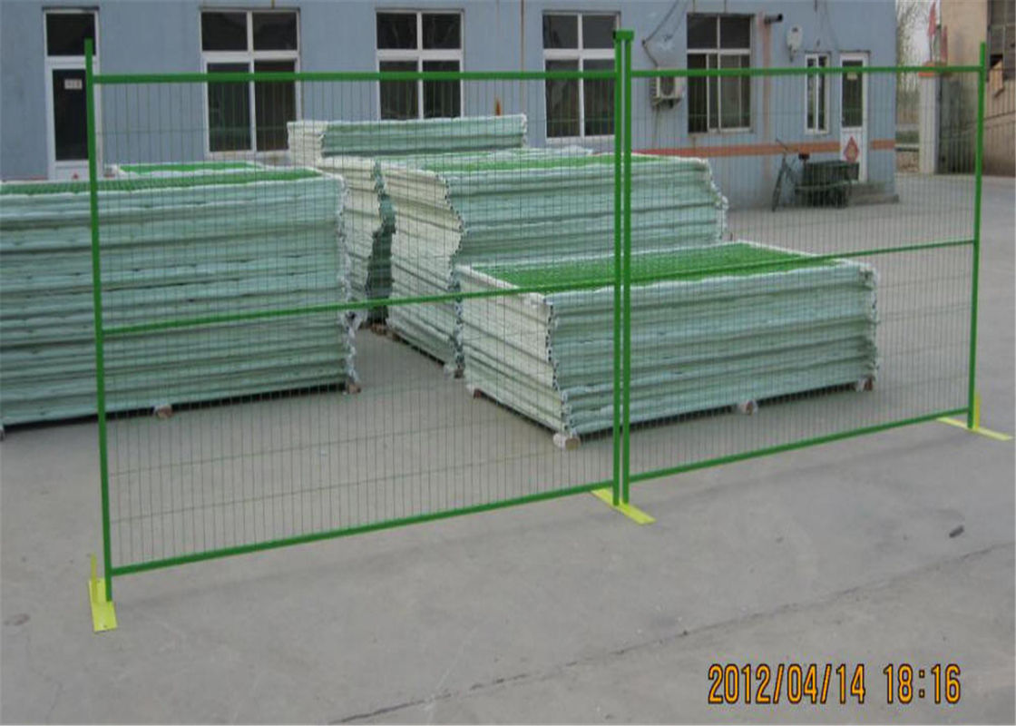 "Construction Fence Panels 6'/1830mm*10'/3048mm width powder coated green mesh 3""x6""/75mm x 100mm supplier"
