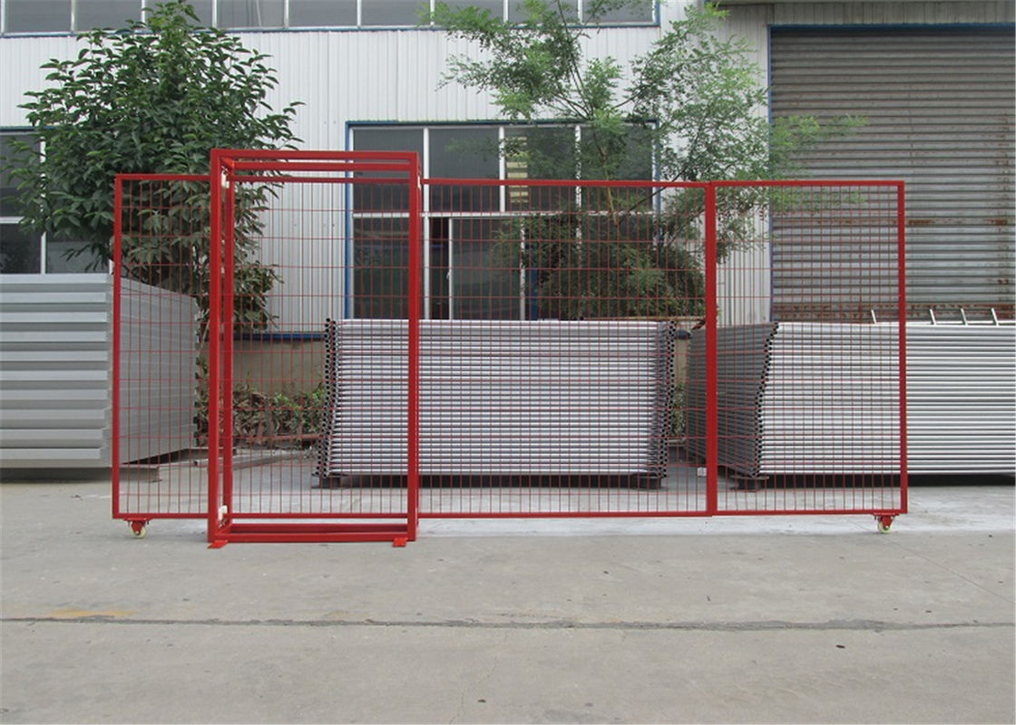 "4'H/1220mm*8'W/2430mm canada standard temporary fence for crowd control powder  spacing 3""x6"" 75mm x 100mm*9ga/3.6mm dia"