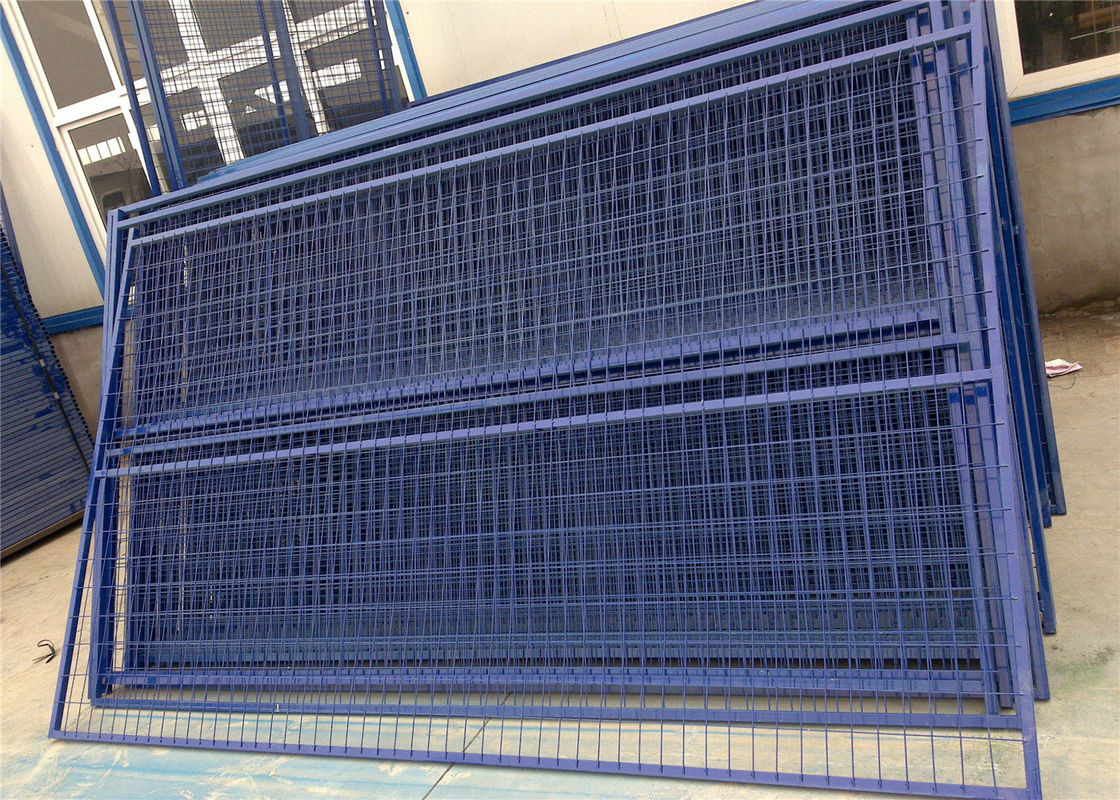 "H6'/1830mm*W9.5'/2900mm weld infill mesh2""*4""*9ga/3.60mm temporary construction fence panels powder coated blue supplier"