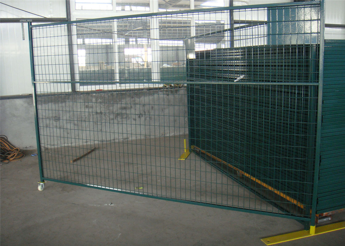 "6'X9.6' temporary construction fence frame 1.6""/40mm brace1.2""/30mm and 16ga  akzolnobel powder coated ral 6004 supplier"
