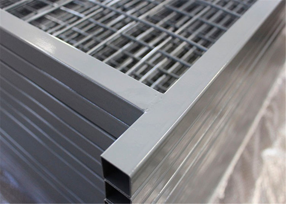 "Canada temporary Construction Fence H 6'/1830mm and W 9.6' /2950mm tubing 1""/25mm thick 1.5mm powder coated grey supplier"